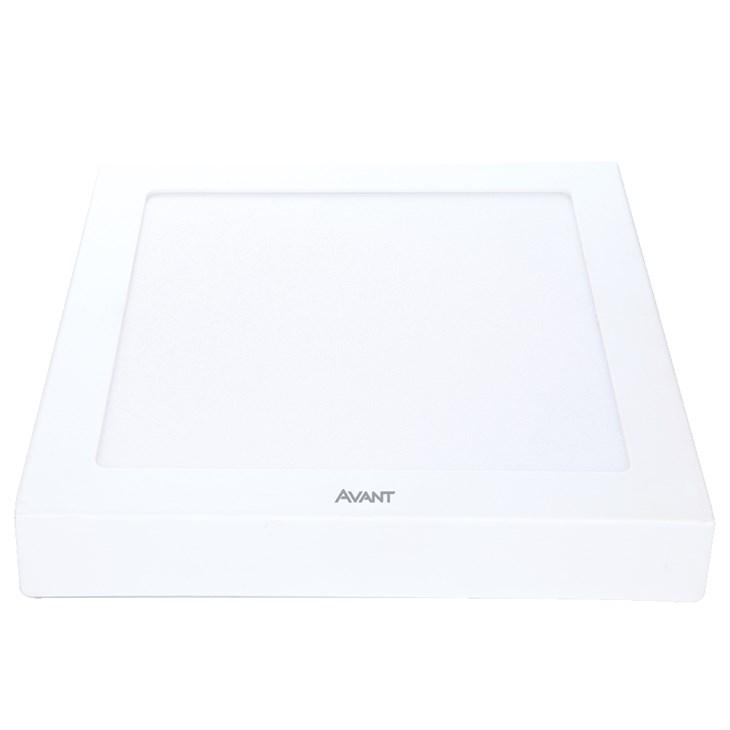 Painel Led de Sobrepor Quadrado 22CM 18W 6500K Bivolt Emissão de Luz Branca Avant