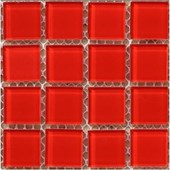 Pastilha de Vidro ABC 2,5x2,5 DVA 003 Vermelha Placa