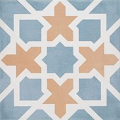 Piso Grês 20x20cm Retificado Zellige Decor Blue Matte Acetinado Roca