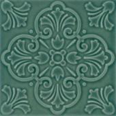 Porcelanato 18,5X18,5CM Twenty Delux Verde Brilhante Decortiles