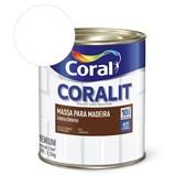 Pré-pintura Coralit Massa Para Madeira Branco 1.5kg Coral