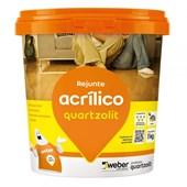 Rejunte Acrílico 1KG Cinza Platina Quartzolit