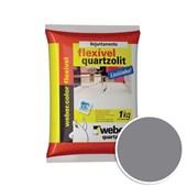 Rejunte Flexível 5KG Cinza Ártico Quartzolit