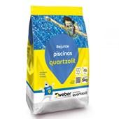Rejunte Piscinas 5kg Cinza Platina Quartzolit