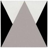 Revestimento 20x20CM Bold Calu Retro Triângulo Cinza Decortiles