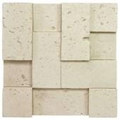 Revestimento 20X20Cm Travertine Blocks 20 Areia Bege Gauss