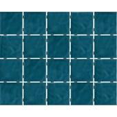 Revestimento para Fachada e Piscina 7,5X7,5CM Bold Azul Mar Onda Mesh Brilhante LP Eliane