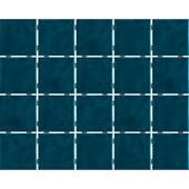 Revestimento Para Fachada E Piscina 7,5x7,5cm Bold Azul Petróleo Onda Mesh Brilhante Lp Eliane