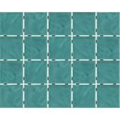 Revestimento para Fachada e Piscina 7,5X7,5CM Bold Verde Água Onda Mesh Brilhante LP Eliane