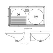Tanque Duplo De Marmofibra 120x60cm Branco Decoralita