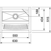 Tanque em Inox de Encaixe A304 46L 63X51,5CM com Saboneteira Polido 10850 Franke