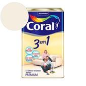 Tinta Acrílica 3 Em 1 Fosco Branco Neve 18l Coral