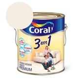 Tinta Acrílica 3 Em 1 Fosco Branco Neve 3,6l Coral