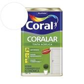 Tinta Acrílica Coralar Acrilico Fosco Branco 18L Coral