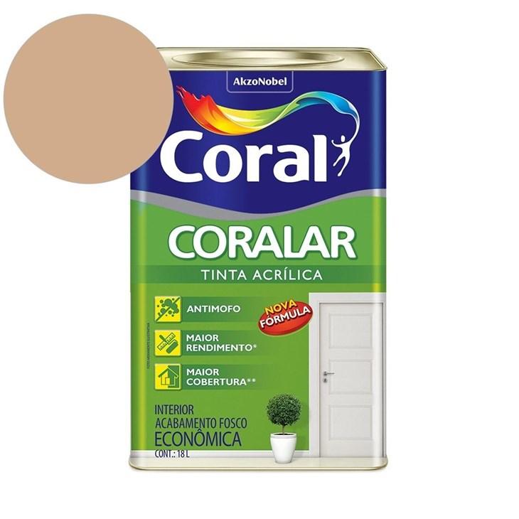 Tinta Acrílica Coralar Acrilico Fosco Camurça 18L Coral