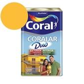 Tinta Acrílica Coralar Duo Fosco Amarelo Frevo 18L Coral