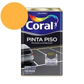 Tinta Acrílica Pinta Piso Fosco Amarelo Demarcação 18L Coral