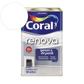 Tinta Acrílica Renova Gesso E Drywall Fosco Branco 18l Coral