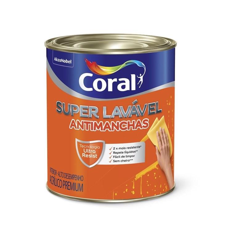 Tinta Acrílica Super Lavavel Eggshell Base T 800ml Coral