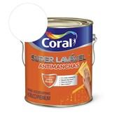 Tinta Acrílica Super Lavavel Eggshell Branco 3.6l Coral